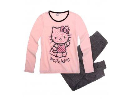 Hello Kitty pyžamo bavlněné růžové