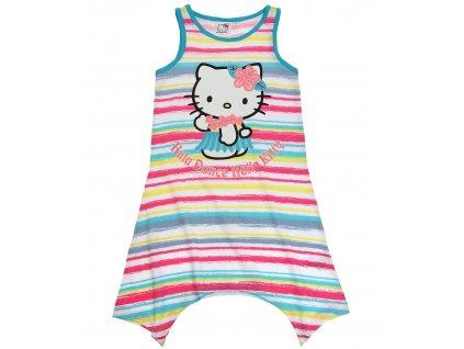 Šaty Hello Kitty tyrkysové s pruhy
