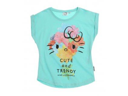 Hello Kitty tričko tyrkysové