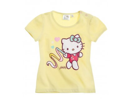 Hello Kitty kojenecké trička žluté