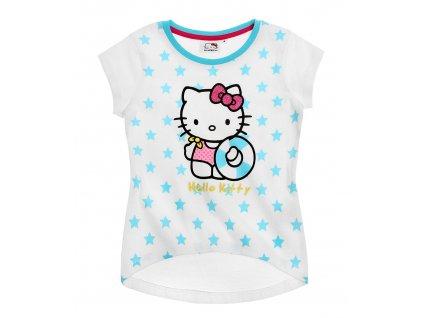 Bavlněné Hello Kitty tričko bílé