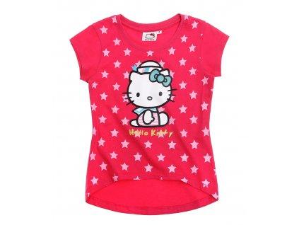 Bavlněné triko Hello Kitty růžová