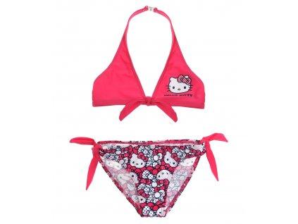 Plavky Hellou Kitty dvoudílné růžové