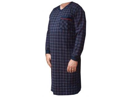 Pánská bavlněná noční košile tm. modrá