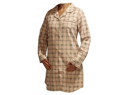 Flanelová noční košile dámská