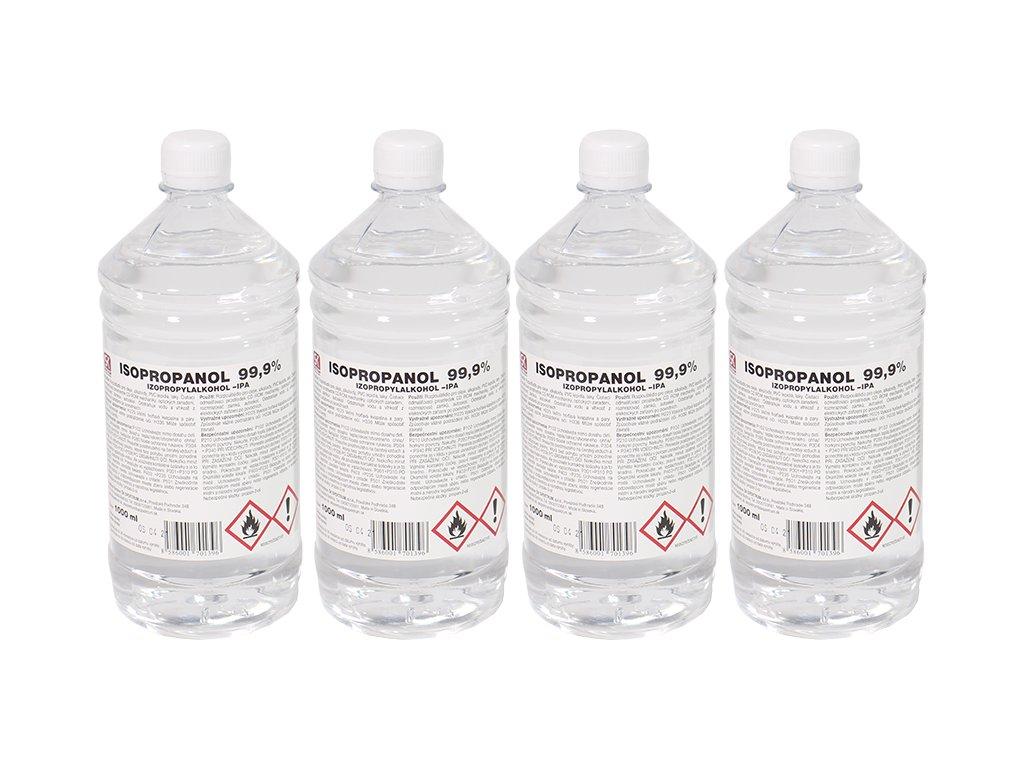 Isopropanol 99,9% 1 l - IPA - 4ks