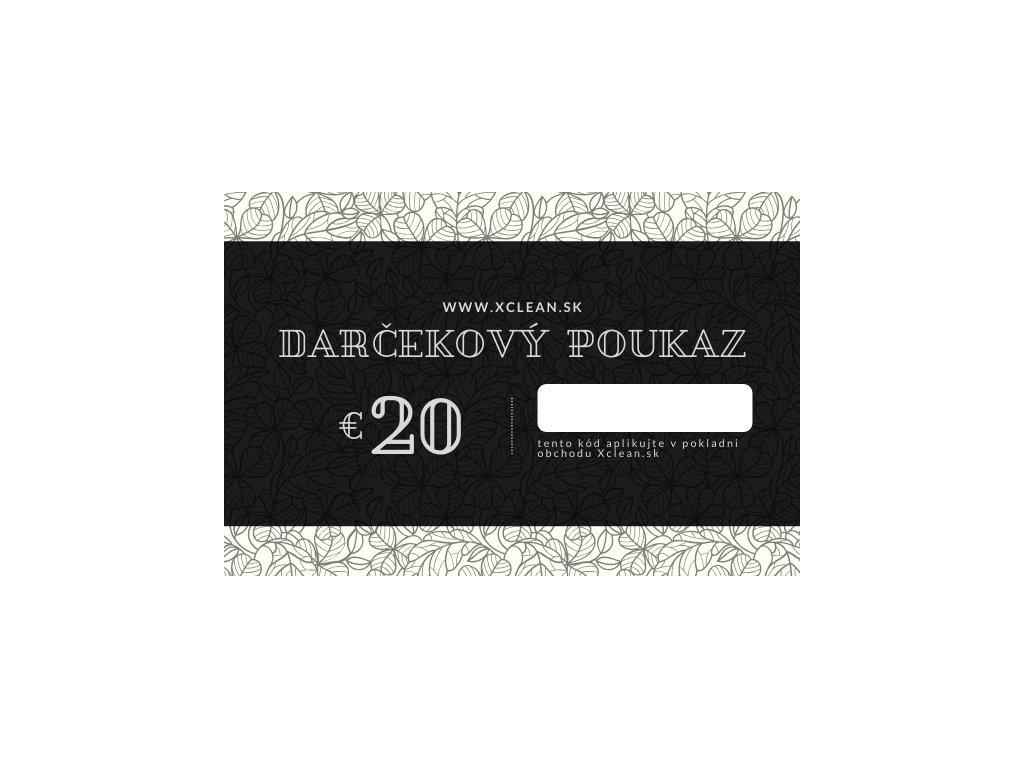 Darčekový poukaz 20€ na nákup v obchode Xclean