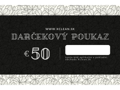 Darčekový poukaz 50€ na nákup v obchode Xclean