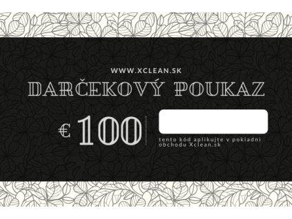 Darčekový poukaz 100€ na nákup v obchode Xclean