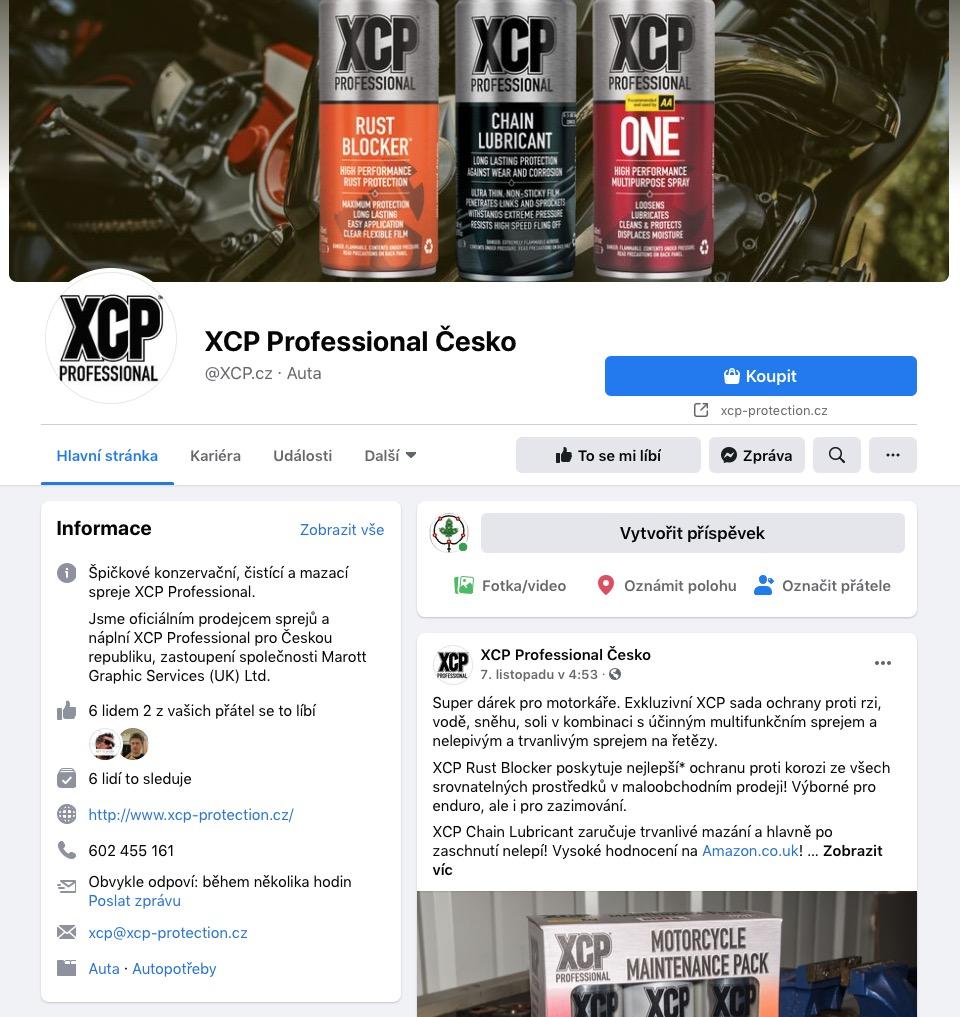 Facebook XCP Professional Česko