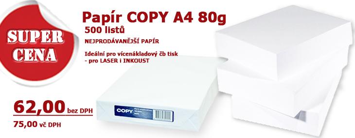 kancelářský papír A4 Copy 80g., 500 listů