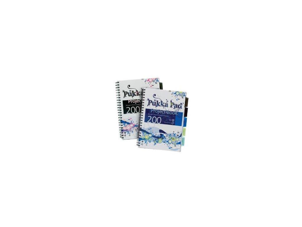 Blok A4 Pukka Pad Project Book - linkovaný s boční spirálou 125 listů