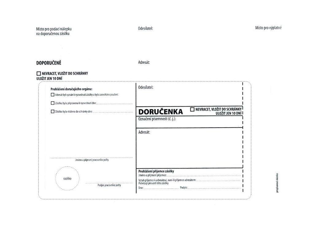Obálky C5 doručenka bílá NCR s poučením