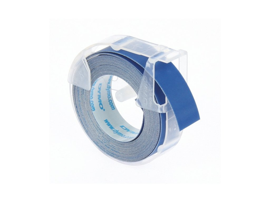 Dymo páska 3D, 9mm x 3m, modrá, bílý tisk 1ks
