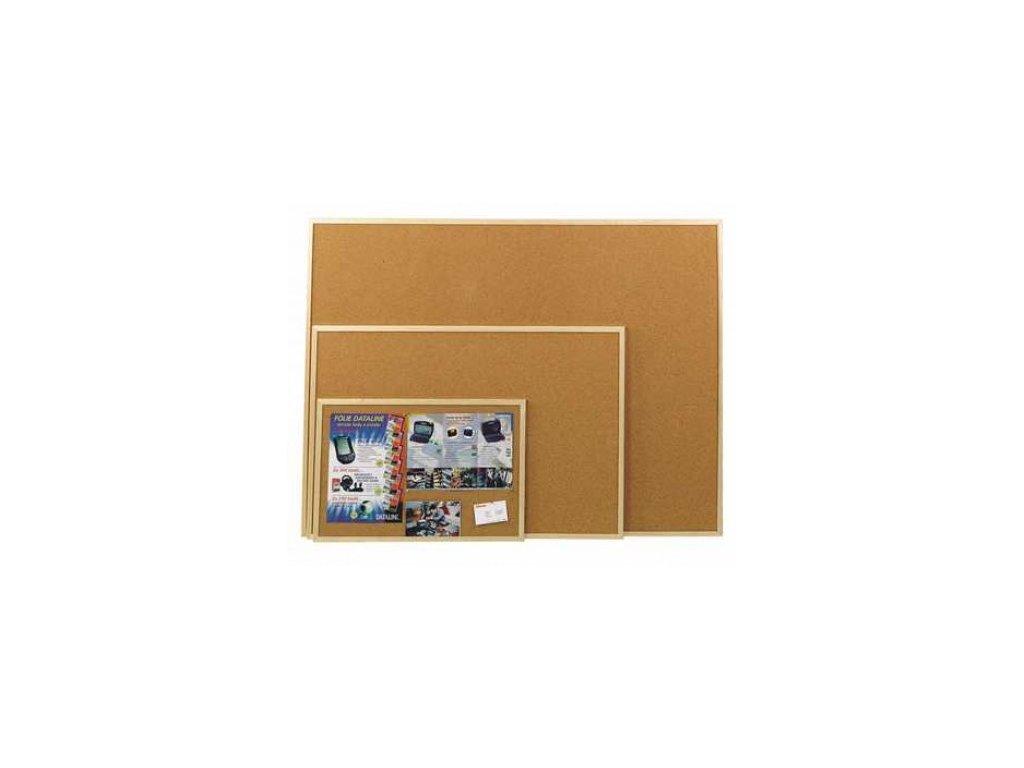 Korková tabule oboustranná 90x120 cm - dřevěný rám