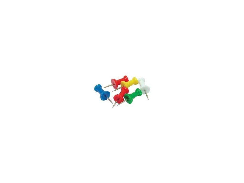Připínáčky na korkové tabule barevné 100ks