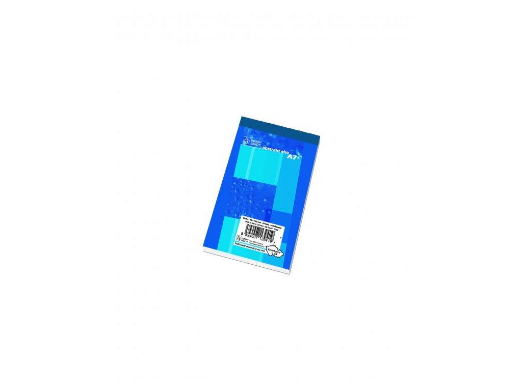Blok šitý A7 17050 čistý 50 listů