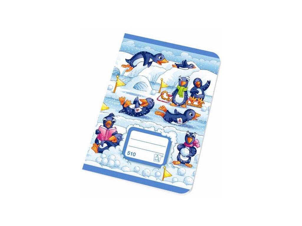 Školní sešit A5 510 čistý 10 listů