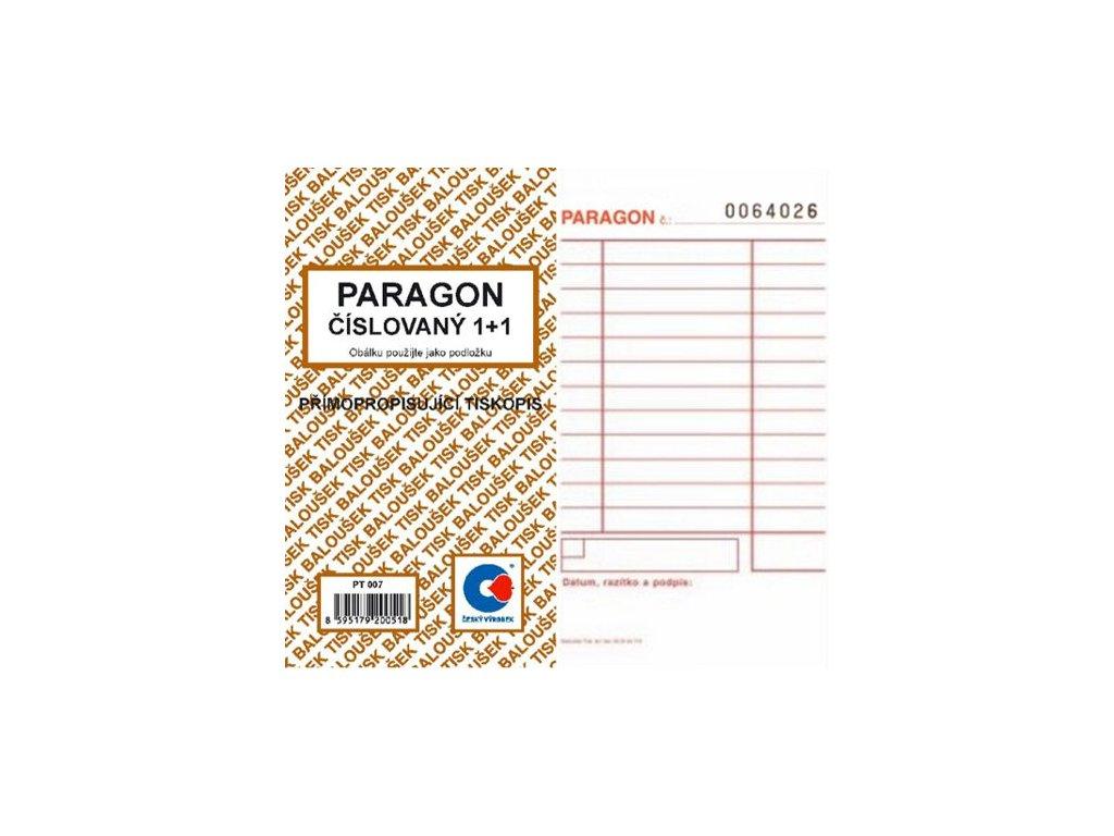 Paragon číslovaný NCR PT007