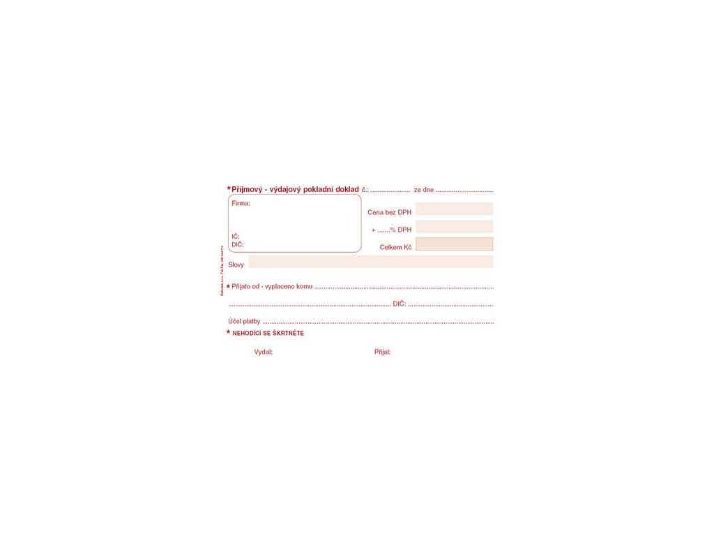 Univerzální příj.- výdaj. pokladní doklad A6 PT060