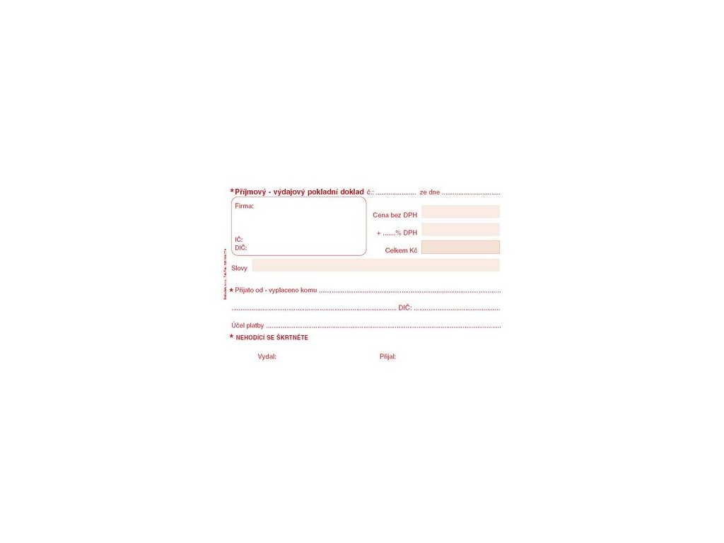 Univerzální příj.- výdaj. pokladní doklad PT060