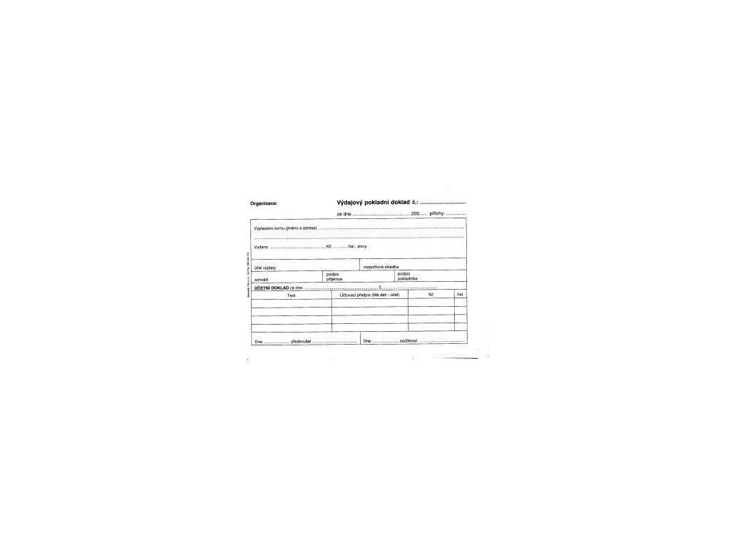 Výdajový pokladní doklad i pro podvojné učetnictví ET050