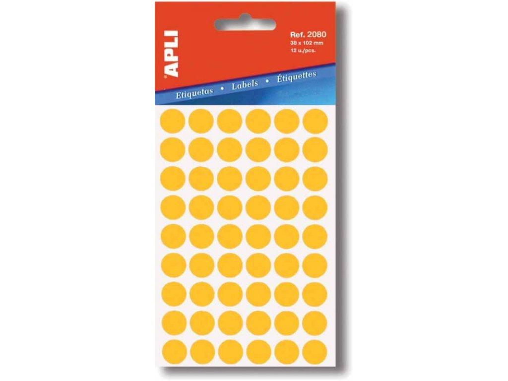 Etikety Apli kulaté 10mm žluté 315 etiket