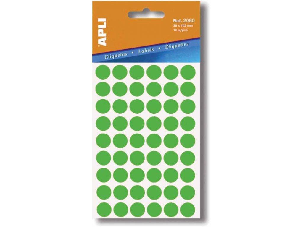 Etikety Apli kulaté 19mm zelené 100 etiket