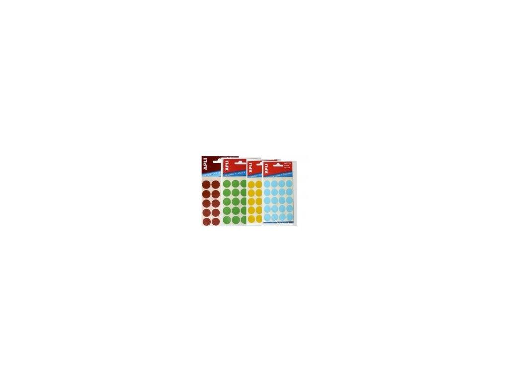 Etikety Apli kulaté 19mm červené 100 etiket