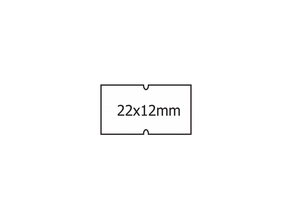Etikety Cola Ply 22 x 12mm bílé