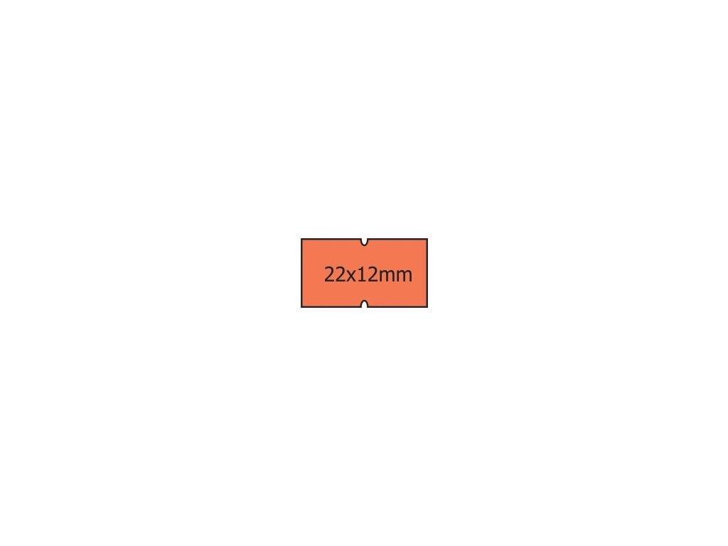 Etikety Cola-Ply 22 x 12mm oranžové