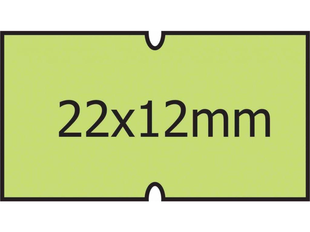 Etikety Cola-Ply 22 x 12mm zelené
