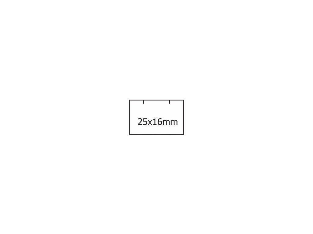 Etikety Contact 25 x 16mm bílé hranaté