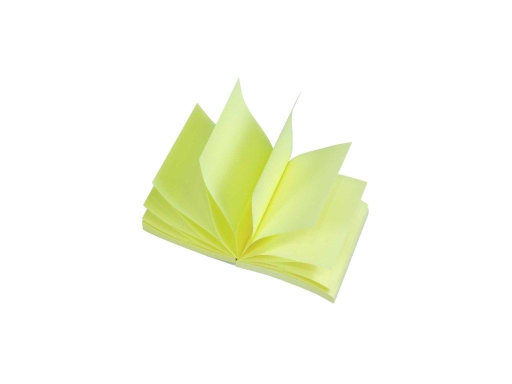 """Samolepící bloček """"Z"""", 75x75 mm, žlutý, 100 lístků"""