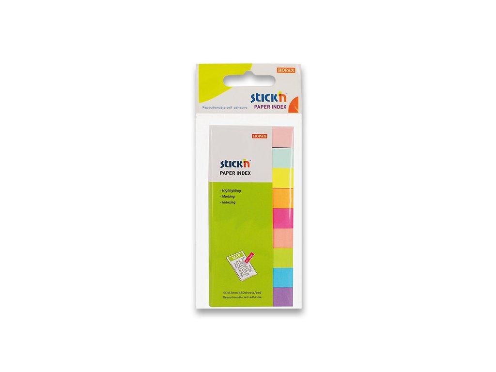 Samolepicí záložky Stick'n notes 50x12 mm, 9x50 lístků