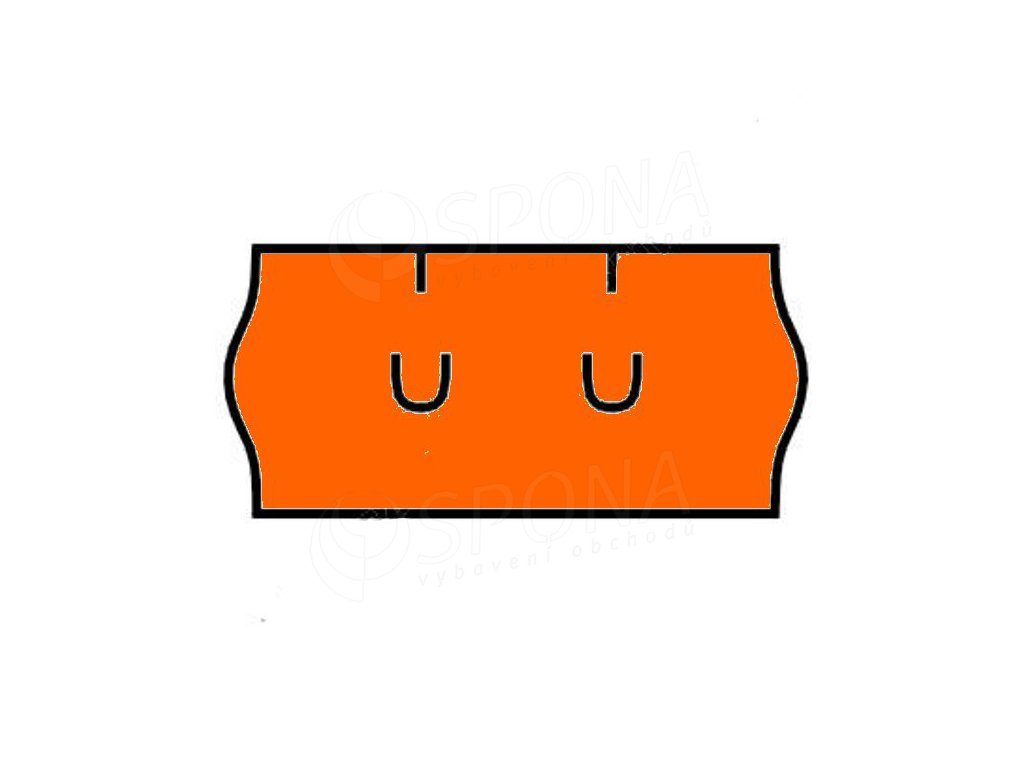 Etikety Uni 26 x 12mm oranžové