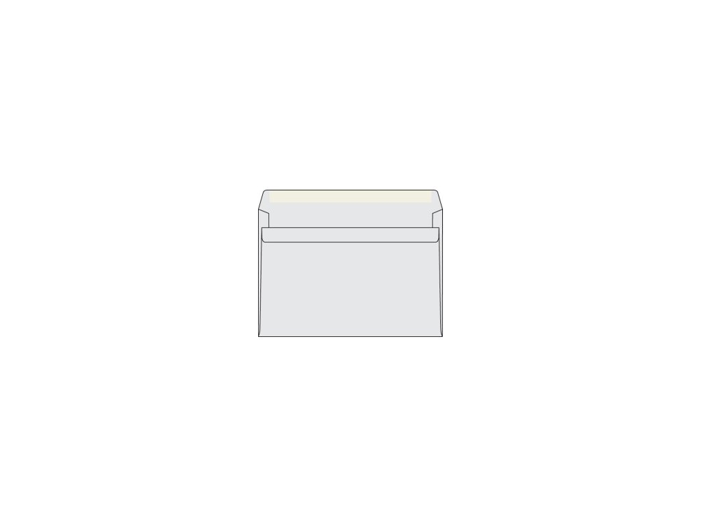 Obálky C5 samolepící bílé 50ks