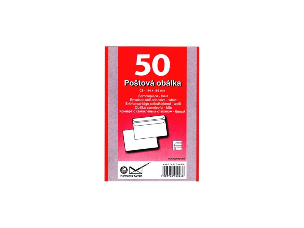 Obálky C6 samolepící 50ks