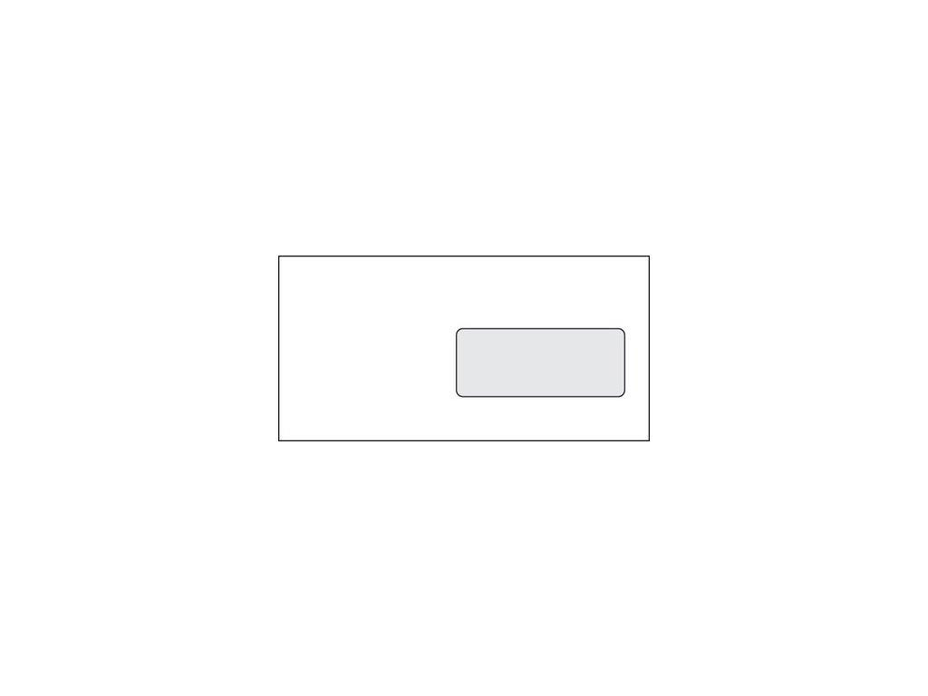 Obálky DL s okénkem, samolepící bílé 1000ks