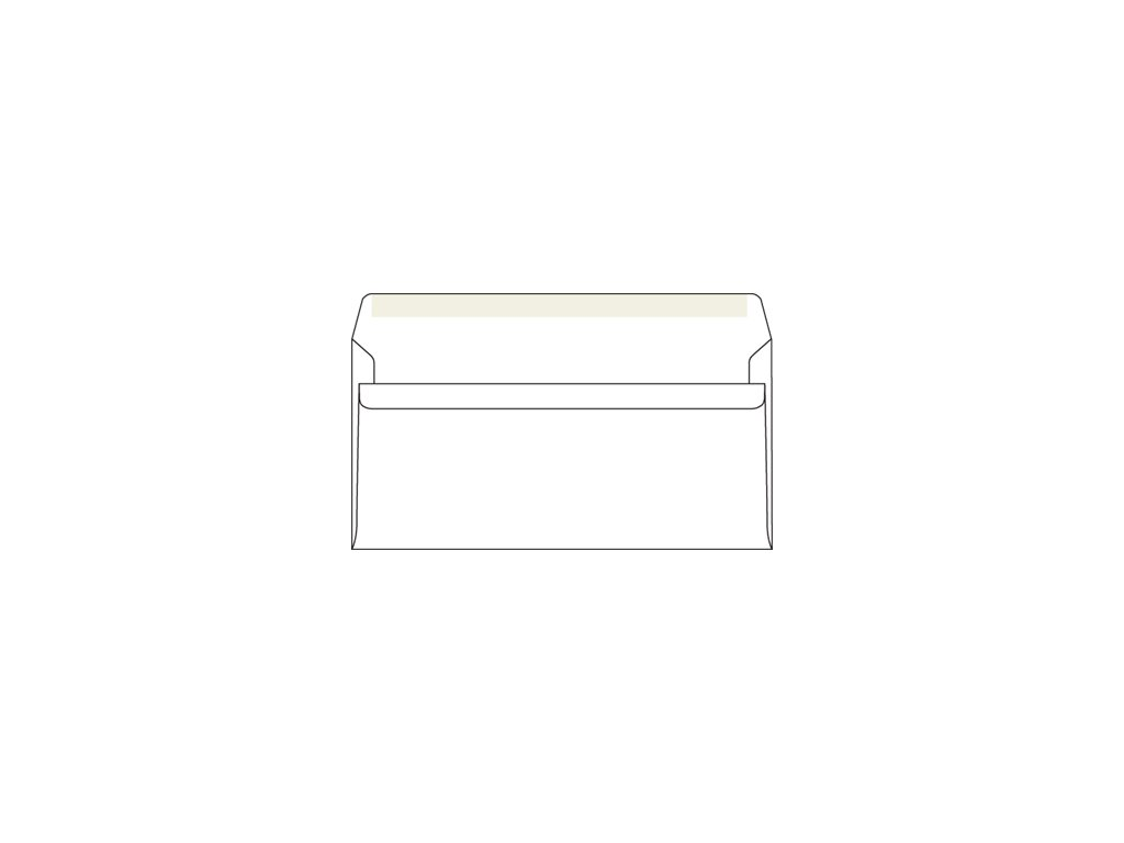 Obálka DL samolepící bílá 1000ks