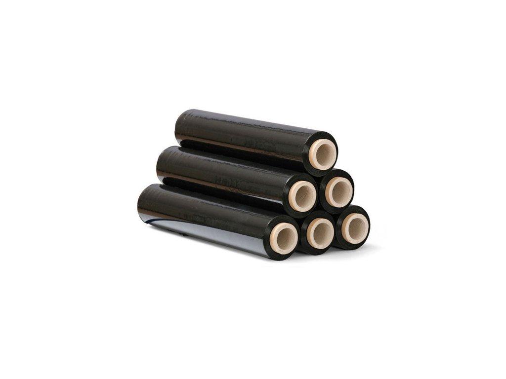 Folie průtažná ruční (stretch) 500mm, 2,4 kg, černá, 23 mic. návin 180 m