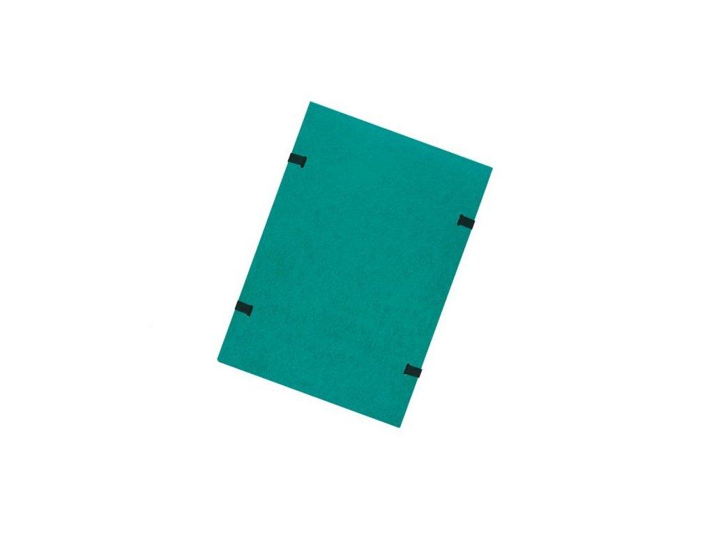 Desky s tkanicí A4 prešpánové zelené