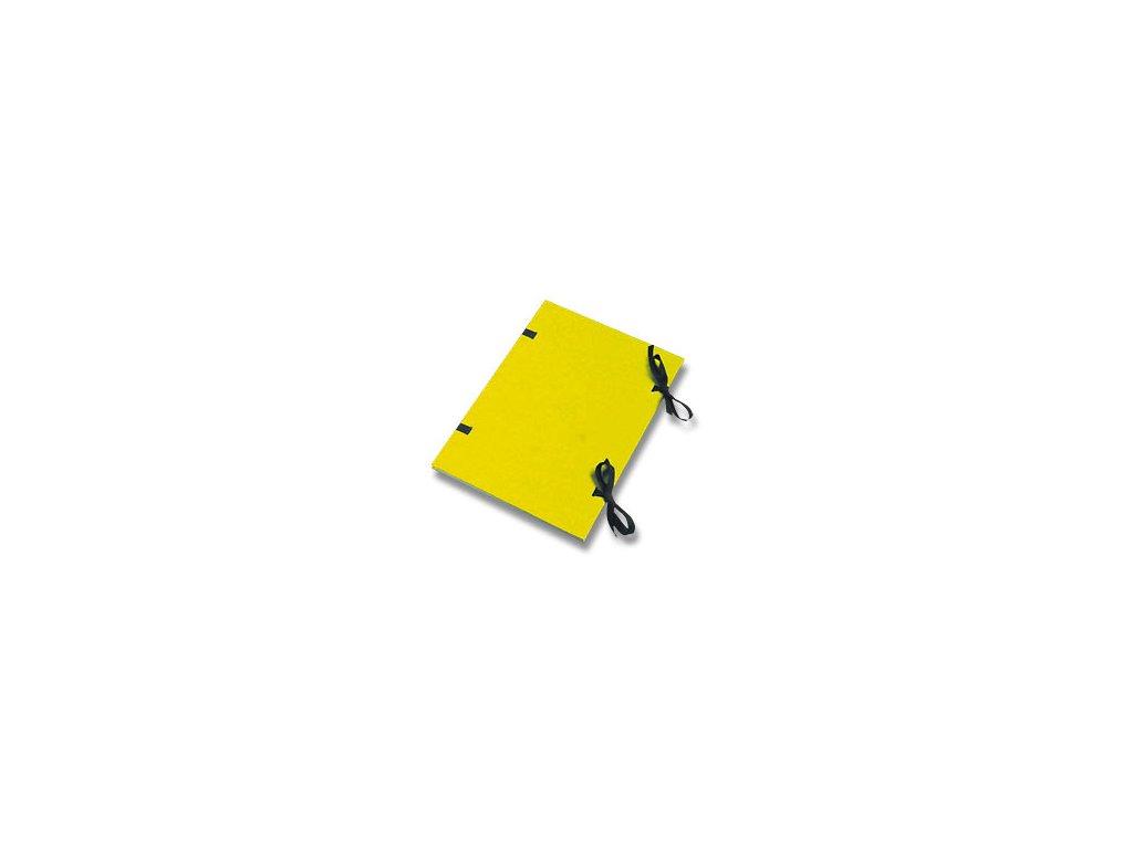 Desky s tkanicí A4 prešpánové žluté