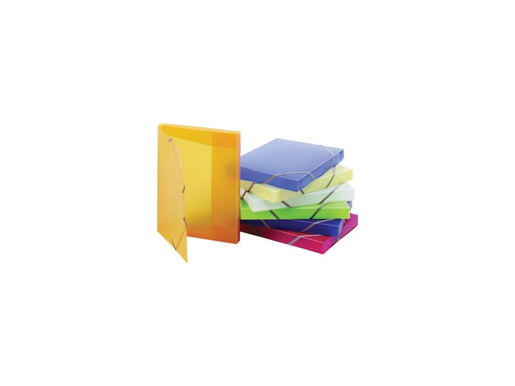 Krabice plastová A4 s gumou PVC