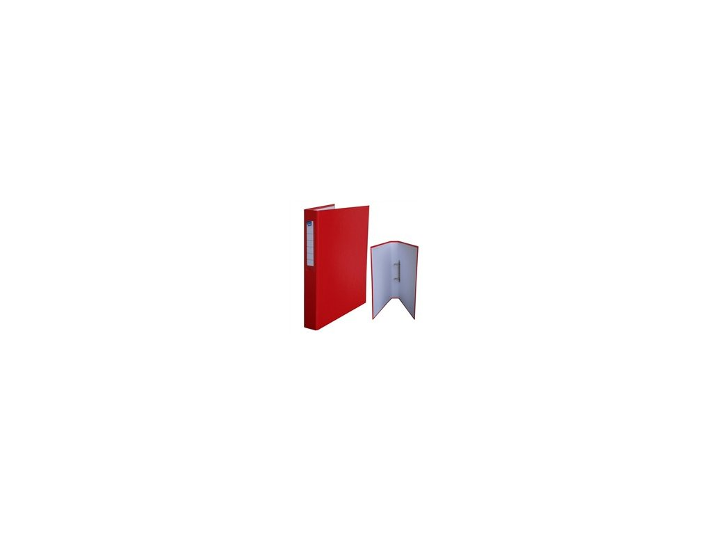 Kroužkový pořadač HIT A4 3,5cm 2kr. červený