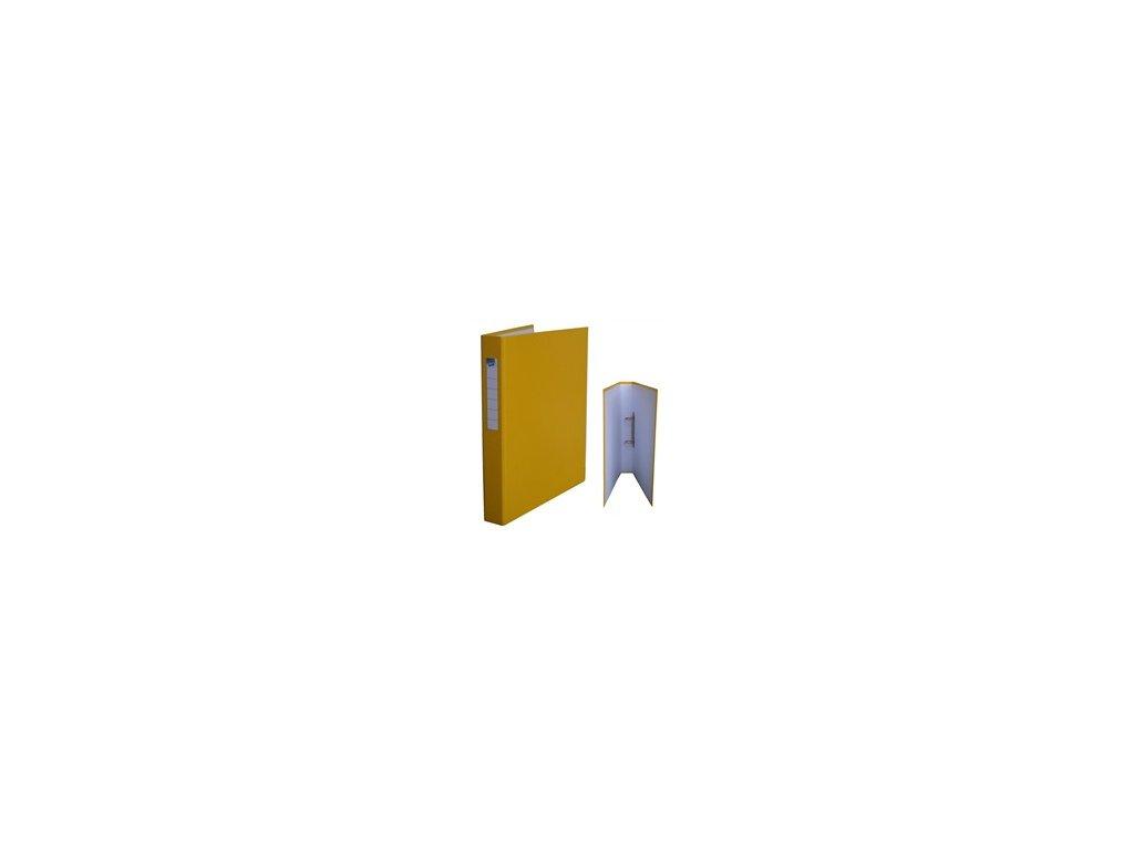 Kroužkový pořadač HIT A4 3,5cm 2kr. žlutý