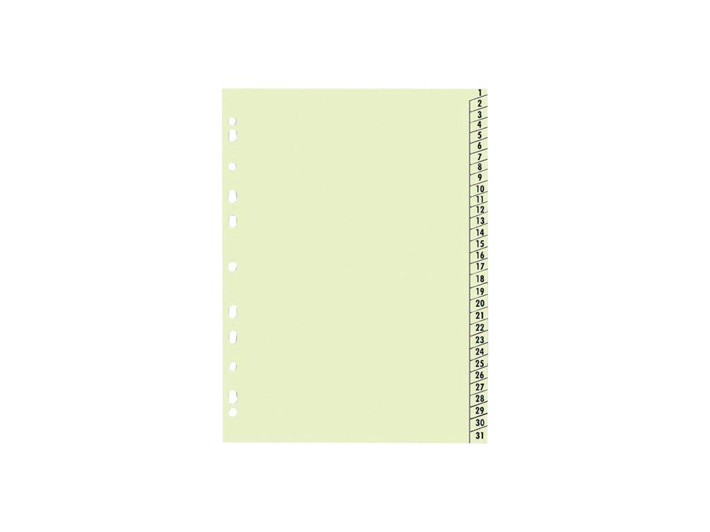 Rejstřík papírový A4 1-31