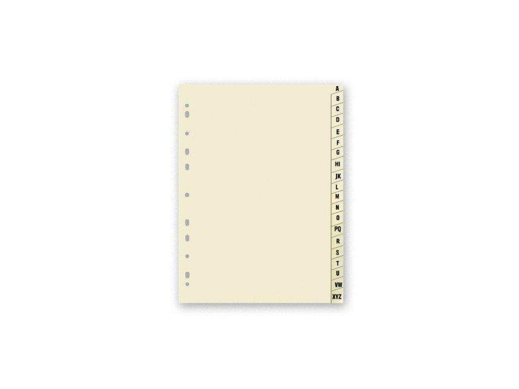 Rejstřík papírový A4 A-Z