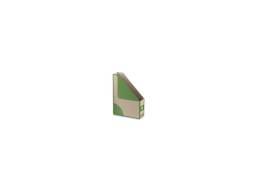 Emba Magazin Box - kartonový, zkosený, zelený