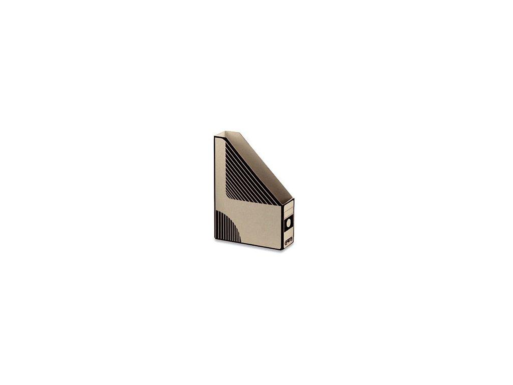 Emba Magazin Box - kartonový, zkosený, černý